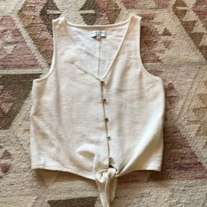 Madewell Texture&Thread Tie Front Tank